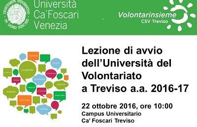 UNIVOL Treviso – Lezione di avvio a.a. 2016/2017