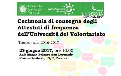 UNIVOL Treviso – Chiusura a.a. 2016/2017