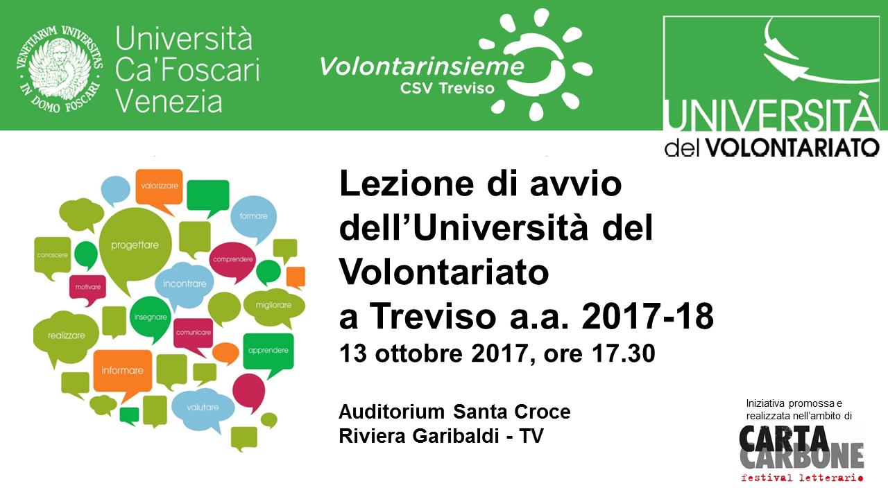 UNIVOL Treviso – Lezione di avvio a.a. 2017/2018