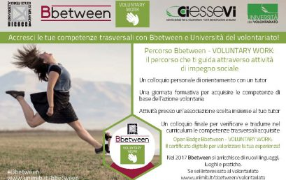 "Bbetween Voluntary Work: universitari a ""scuola"" di volontariato"