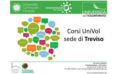 Università del Volontariato Treviso: i corsi 2017/2018