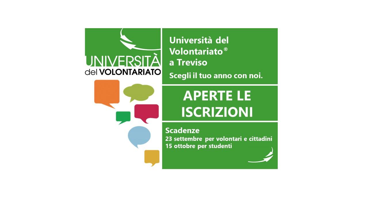 Aperte le iscrizioni UniVol a Treviso 2018/2019