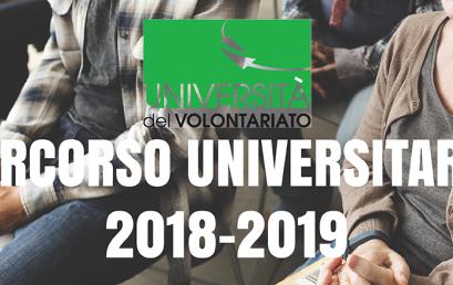Aperte le iscrizioni al percorso studi dell'Università del Volontariato 2018-2019