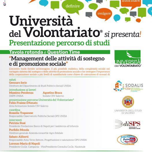 Salerno – Università del Volontariato si presenta