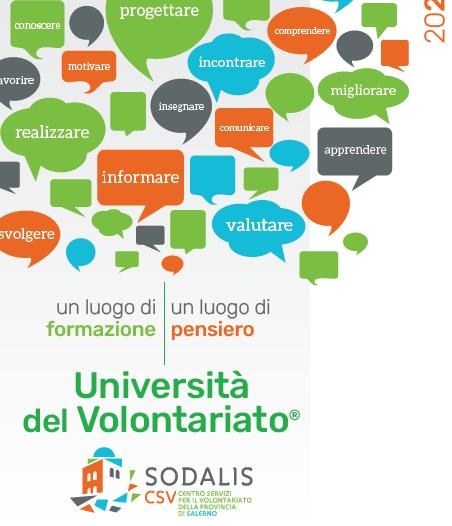 Salerno  – Università del Volontariato, si riparte on line